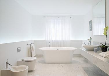 salle de bain blanc