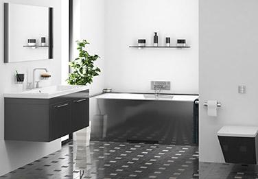salle de bain foncé